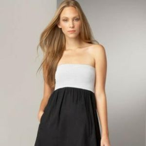 3/$25 $190 Theory Fabiola Black White Stripe Dress